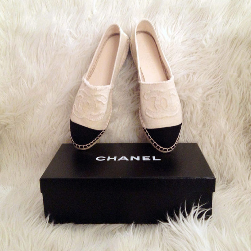 white chanel espadrilles