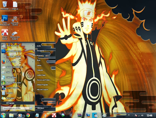anime themes for pc computer naruto