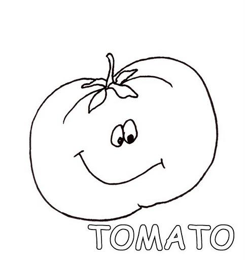 Vegetales y frutas en inglés para colorear - Imagui