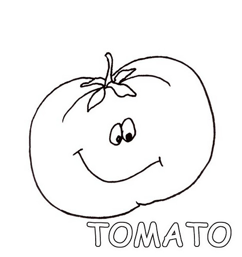 free printable tomato coloring pages - photo#27