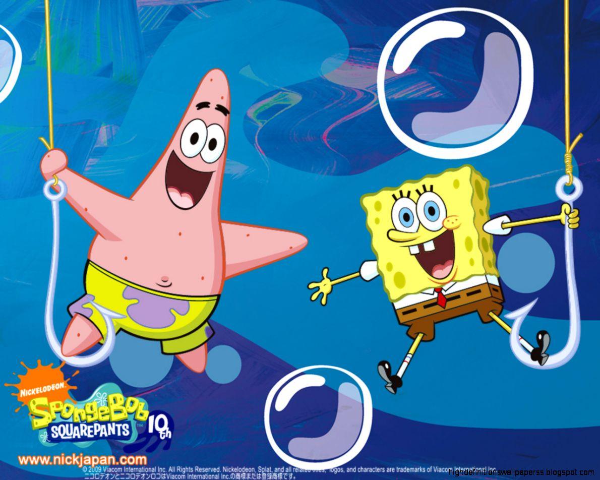 Spongebob And Friends Hd Wallpaper Desktop High Definitions Wallpapers