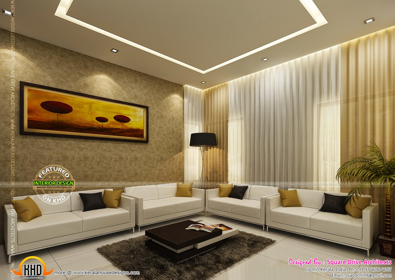 Home interiors designs kerala home design and floor plans for Living room design ideas kerala