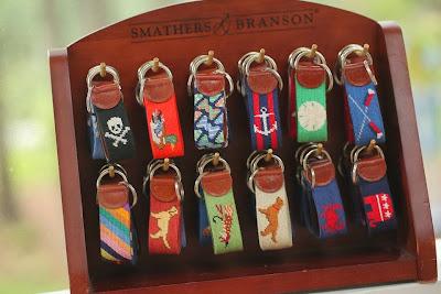 Smathers & Branson needlepoint key fobs
