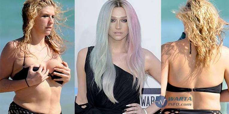 foto Hot payudara kesha artis penyanyi hollywood yang suka upload pamer foto vulgar di instagram