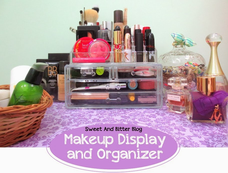 Acrylic Makeup Display Orgniser India with Drawer