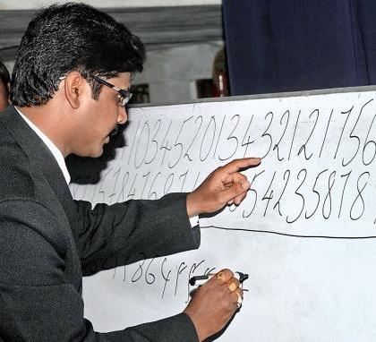 sai kiran vedic maths  Sai Kiran set Guiness