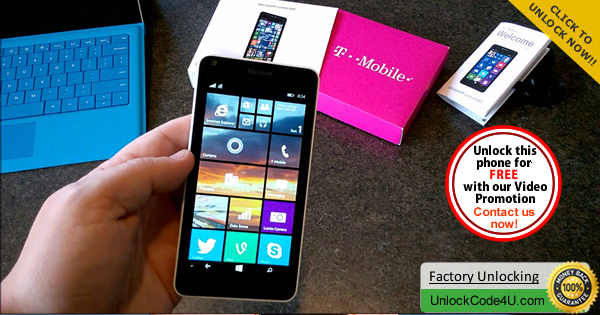 Factory Unlock Code for Microsoft Lumia 640 from T-Mobile