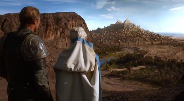 Daenerys y Jorah contemplan Yunkai - Juego de Tronos en los siete reinos