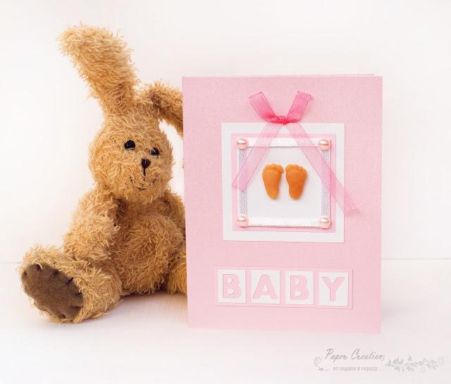 открытка детская для новорожденной девочки