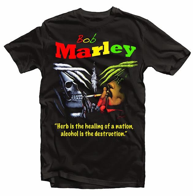 bob marley smoking tshirt design