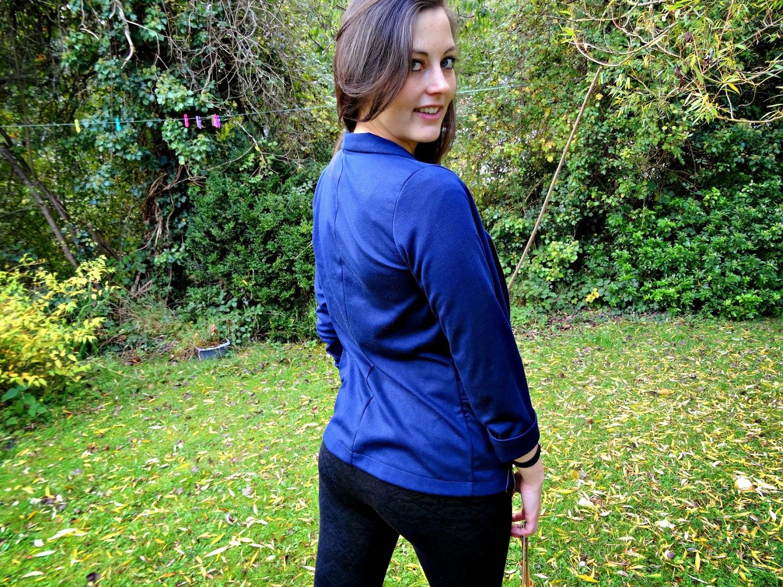 Celeb Look Fashion Post blazer Blue