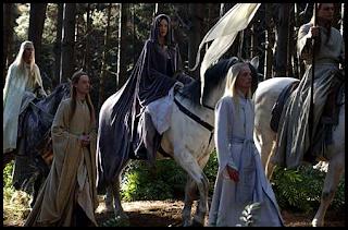Arwen camino de los Puertos Grises, El señor de los anillos. El retorno del rey
