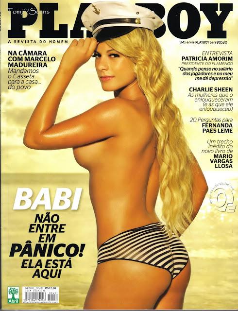 Confira as fotos da Panicat Babi Rossi, capa da Playboy de abril de 2011!