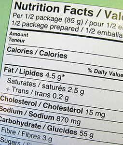 trans fats fat nutrition label