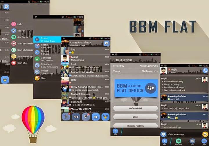 BBM Mod Versi Terbaru Flat Theme v2.6.0.30