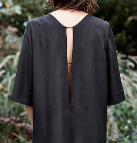 Rebajas SS 2015 fondo de armario vestido negro abertura espalda