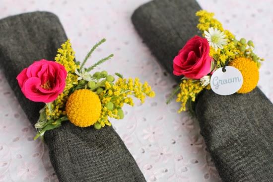 DIY. Crea unos Preciosos Servilleteros con Flores Naturales.