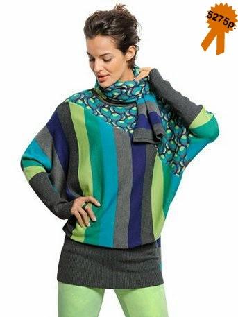 Пуловер Alba Moda геометрический принт