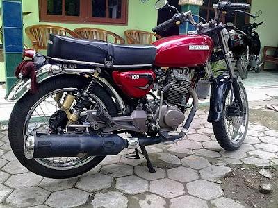 Honda CB 100 1976   Double Stater Modif Retro Classic   Classic