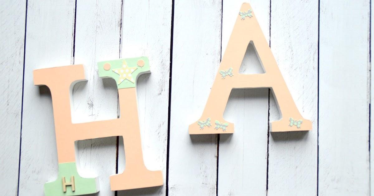 Lunares de papel letras de madera - Casa letras madera ...
