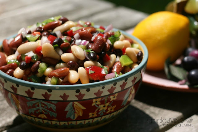 Three Bean Salad: Simple Living and Eating