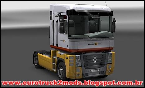 Euro truck 2 Mods - Renault F1 Team skin