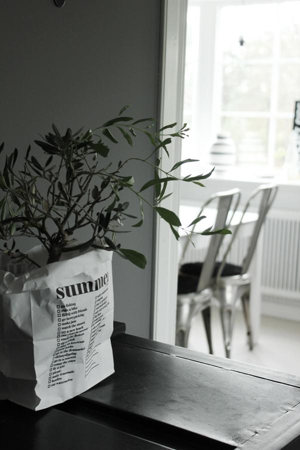 olivträd, papperspåse som kruka, inredning, inredningsblogg, bloggar, webbutik, webbutiker, annelies design interior
