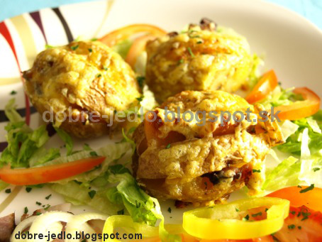 Pečené zemiaky so slaninkou - recepty