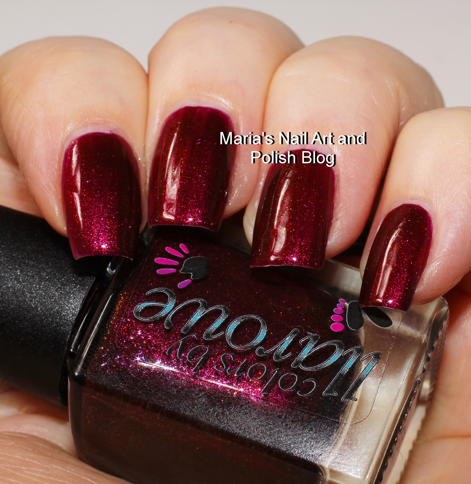 Marias nail art and polish blog colors by llarowe billy jean and colors by llarowe billy jean is a wine red crelly with intense golden red to green shimmer very vampy prinsesfo Gallery