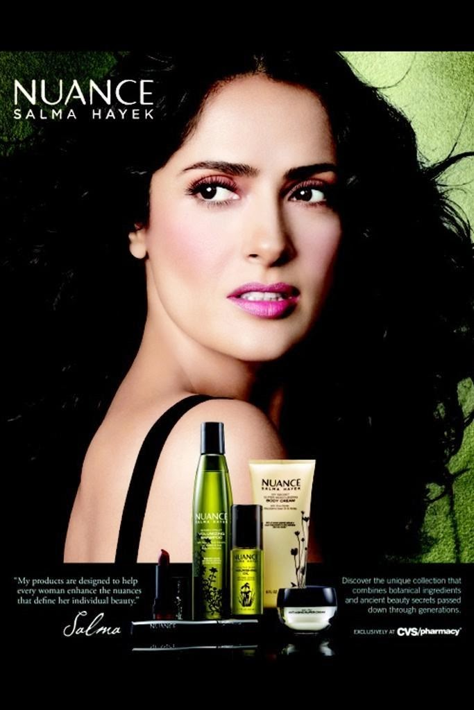 The Essentialist - Fashion Advertising Updated Daily ... Salma Hayek Nuance