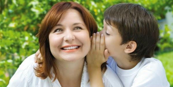 mãe, filho, conversa