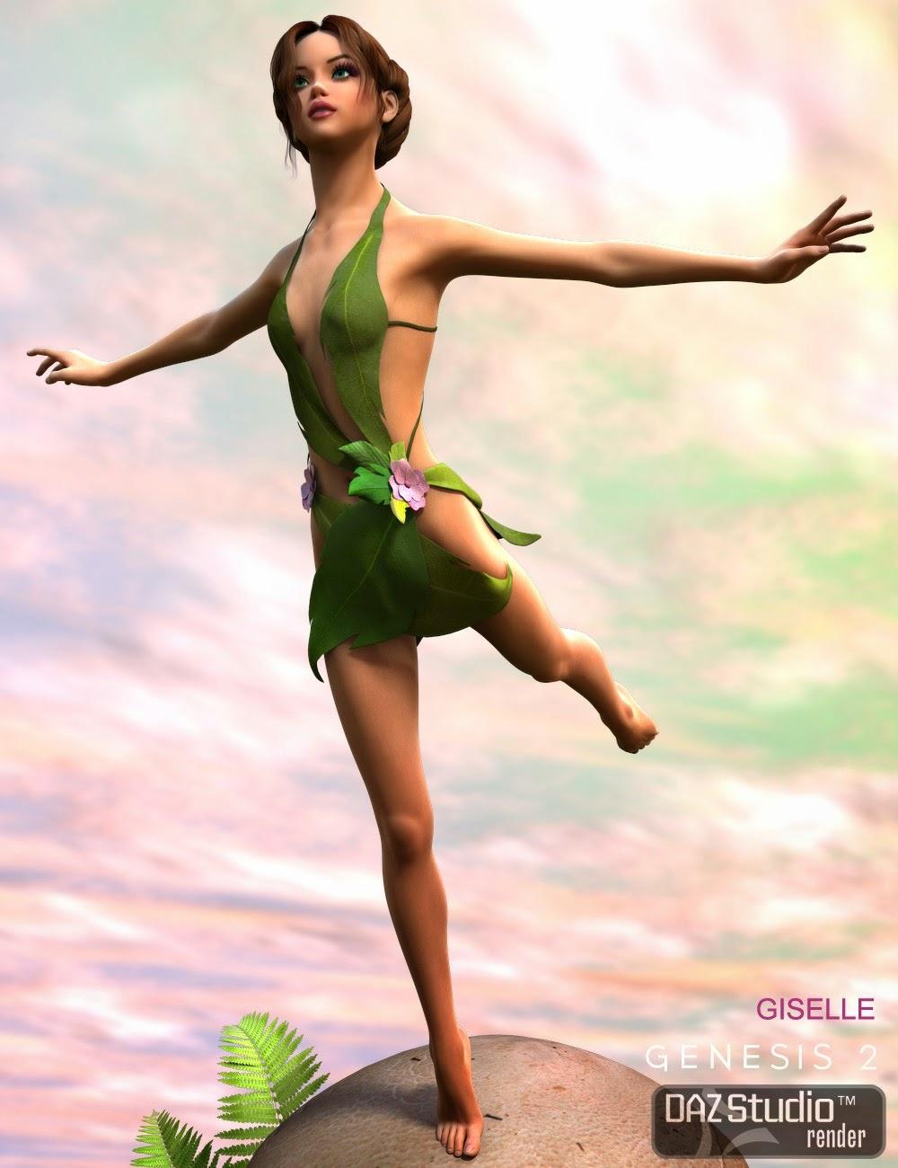 3d Models - Flora Sprite for Genesis 2 Female(s)