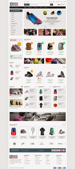 Sports Store Website Template