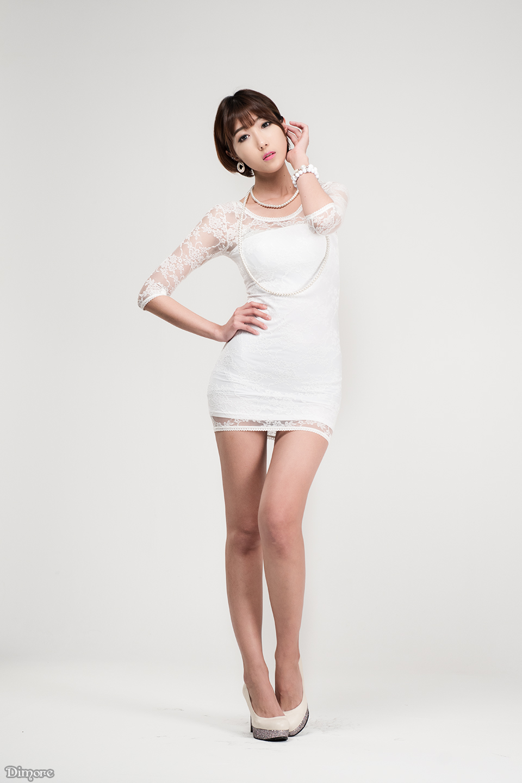 3 Yu Ji Ah - Lovely Ji Ah In Studio, 3 Outfits - very cute asian girl-girlcute4u.blogspot.com