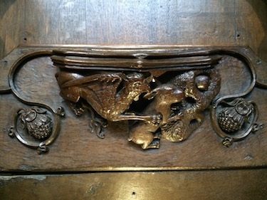 Chuck and Lori's Travel Blog - Quire Seat Decoration at Ripon Cathedral