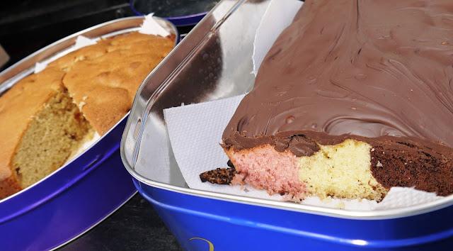 Cherry Cake and Neapolitan Cake