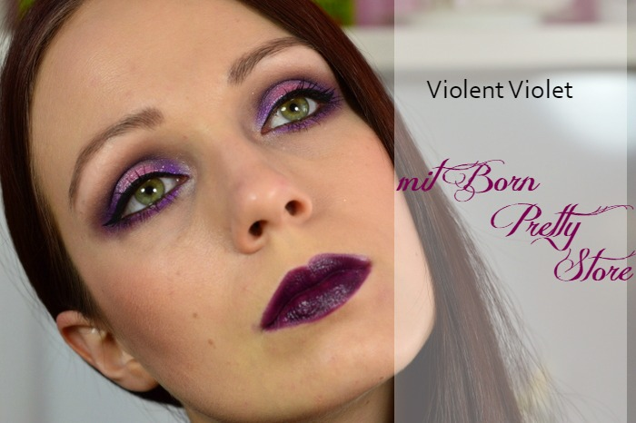 Augen Make-up Violett