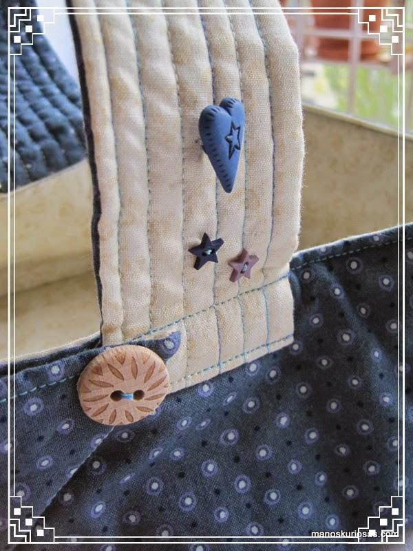 cesto realizado en patchwork