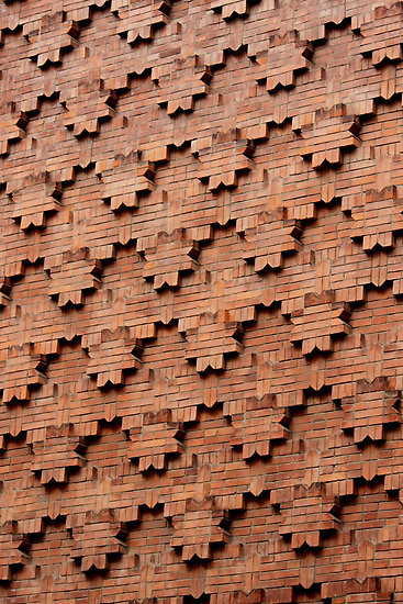 patterns on brick walls -#main