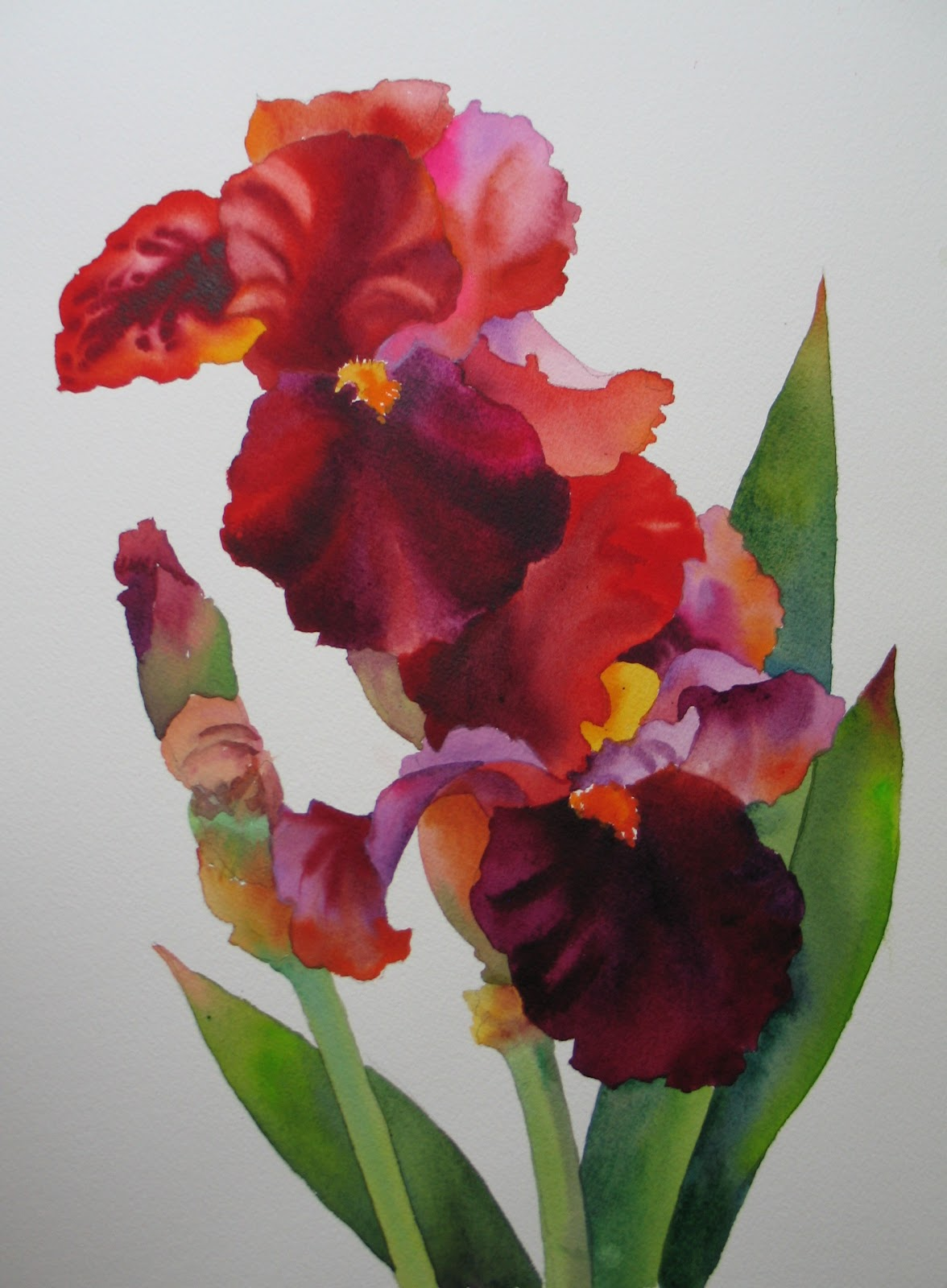 Nels everyday painting red irises twice sold red irises twice sold izmirmasajfo