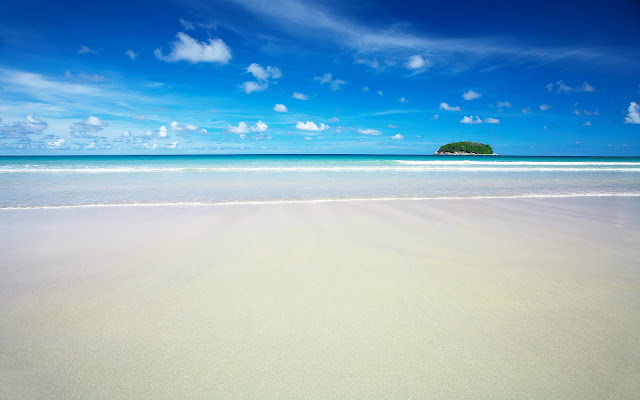 White Sands Blue Sky and See Island HD Wallpaper