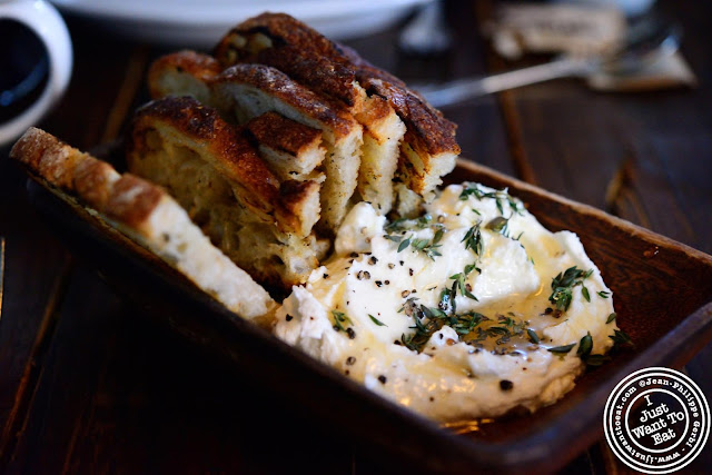 Image of Sheep's milk ricotta at Locanda Verde in Tribeca, NYC, New York