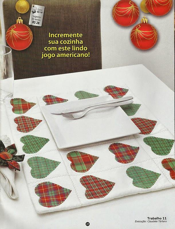 Moldes e passo a passo patch aplique em panos de prato