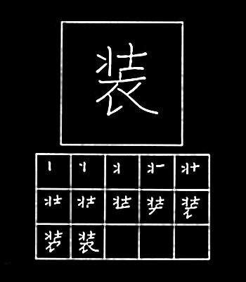 kanji mengenakan