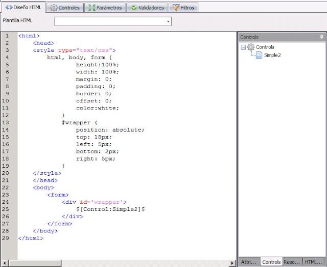 Atlas SBI - Configuración del la página HTML con el iframe