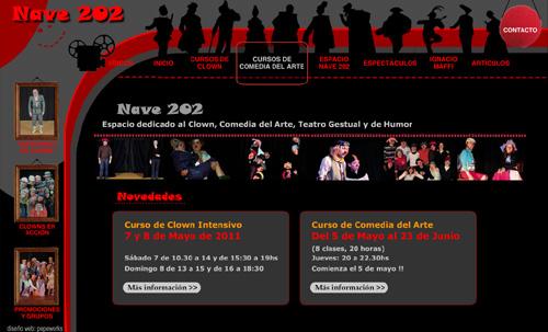 Cursos de Clown Nave 202: Cursos de Clown y Cursos de Comedia del Arte, Teatro Gestual, Payasos, en Madrid