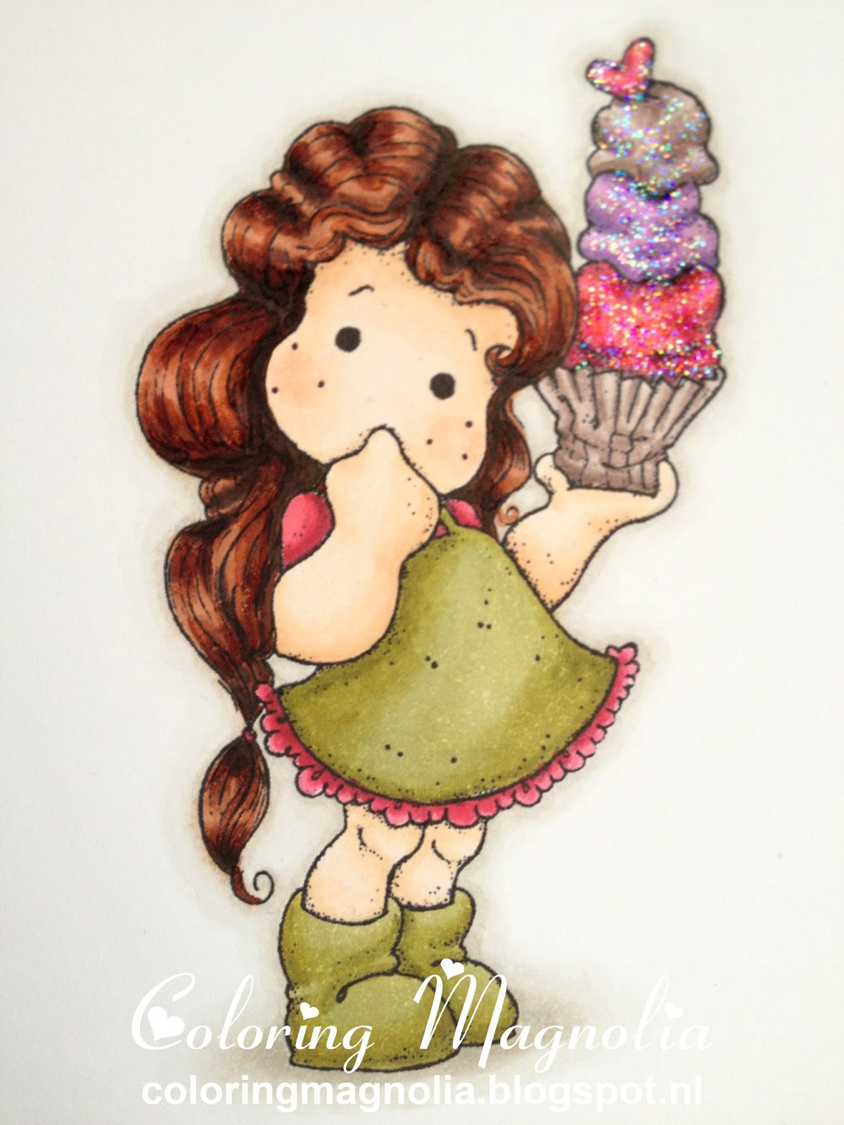 Coloring Magnolia Stamp 2013 With Love Collection - Tilda With Big Icecream
