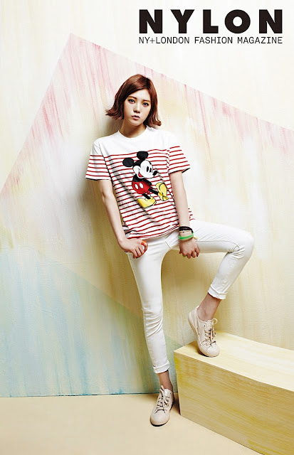 K-Fashion Inspiration: Nobody is too old to wear Mickey Mouse Tee by Lizzy