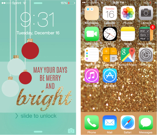 Top 5 iPhone wallpapers from 2014 // www.alittlenutmeg.com