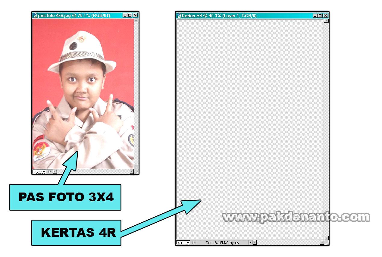 Kertas Foto 4r Foto 4x6 ke Kertas 4 r